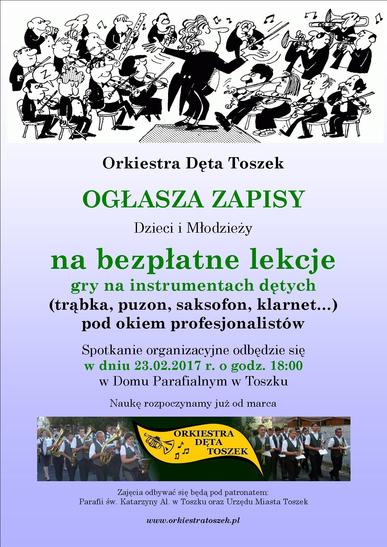 Plakat - Orkiestra Toszek