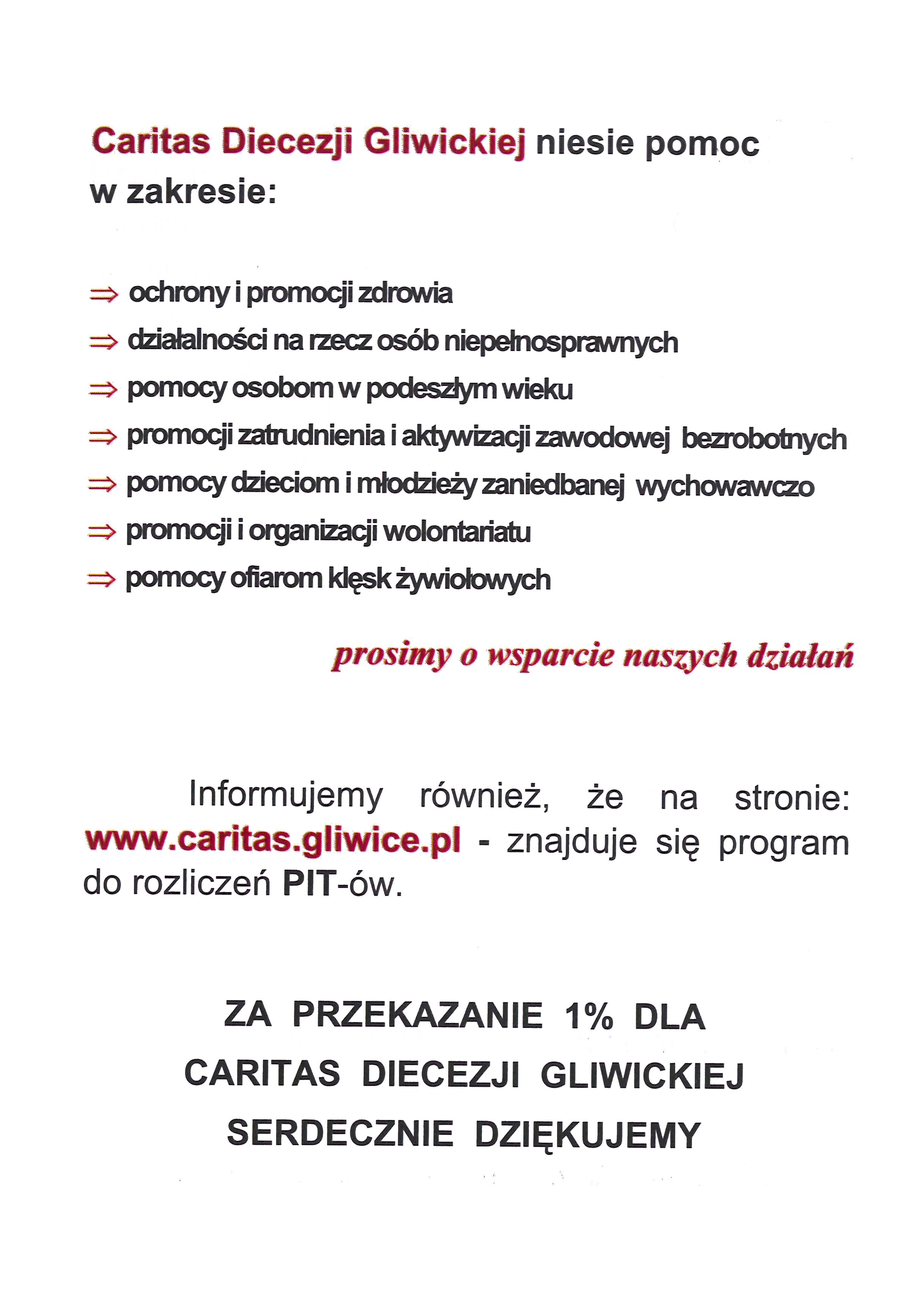 1% dla Caritas (c.d.)